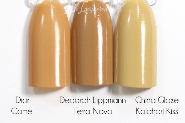 Deborah Lippmann Terra Nova swatch comparison - Summer 2015 via @alllacqueredup