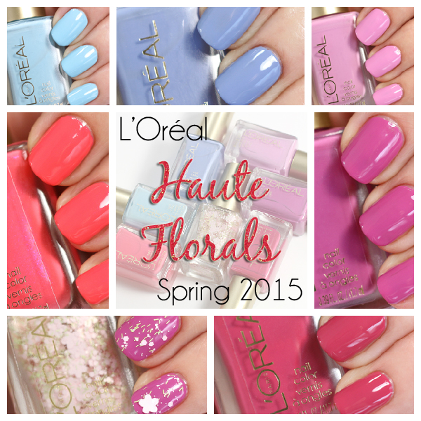 L'Oreal Haute Florals nail polish swatches via @alllacqueredup