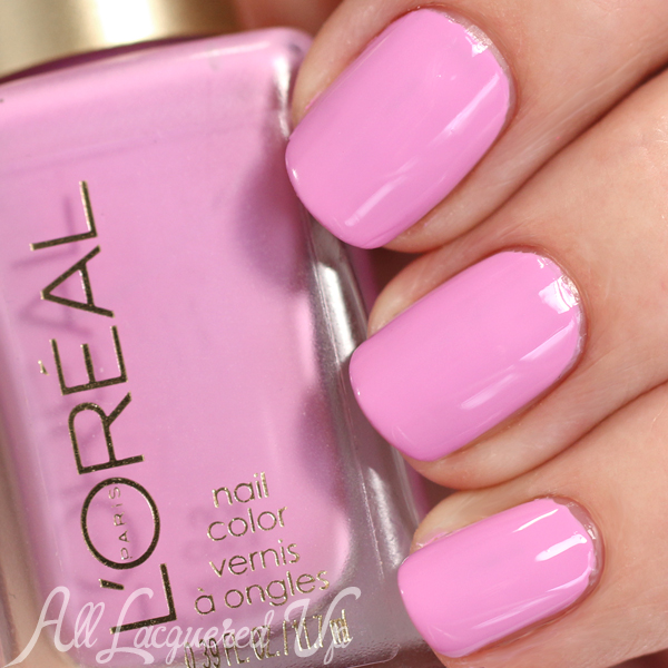 L'Oreal Hint of Lavender swatch - Spring 2015 Haute Florals via @alllacqueredup
