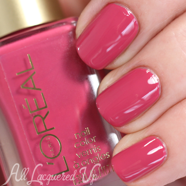 L'Oreal Rose Symphony swatch - Haute Florals Spring 2015 via @alllacqueredup