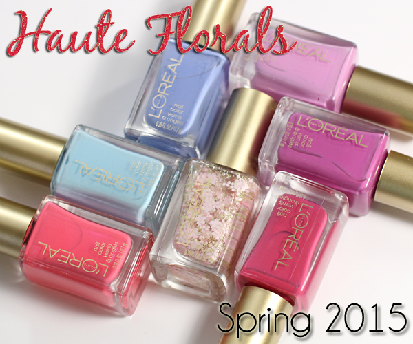 L'Oreal Spring 2015 nail polish - Haute Florals review via @alllacqueredup