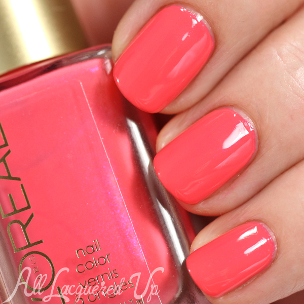 L'Oreal Sweet Nectar swatch - Spring 2015 Haute Florals via @alllacqueredup