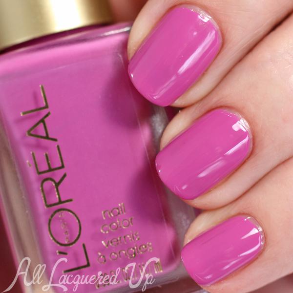 L'Oreal Violette swatch - Spring 2015 Haute Florals via @alllacqueredup