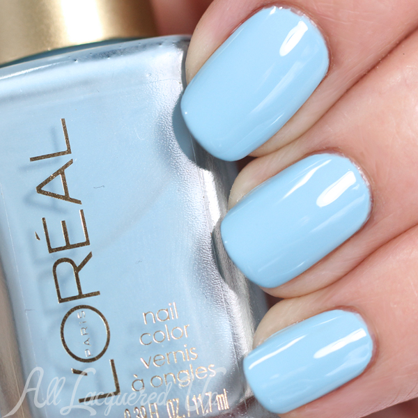 L'Oreal Wispy Clouds swatch - Spring 2015 Haute Florals via @alllacqueredup