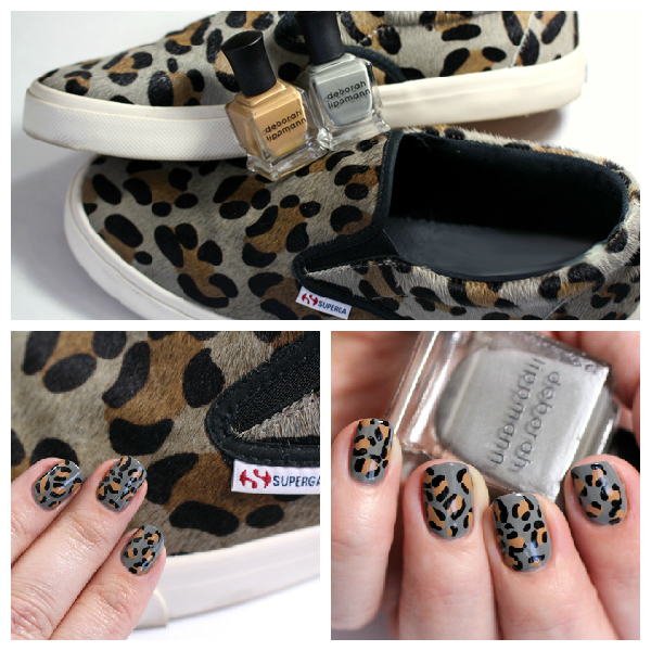 Leopard Nails with Deborah Lippmann via @alllacqueredup