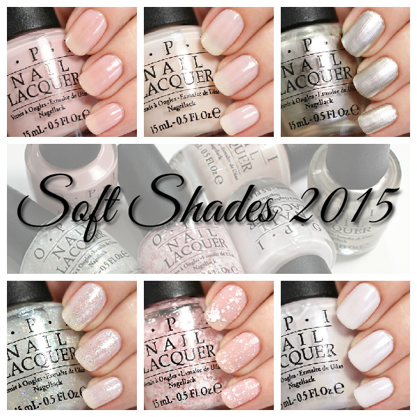 OPI Soft Shades 2015 Swatches