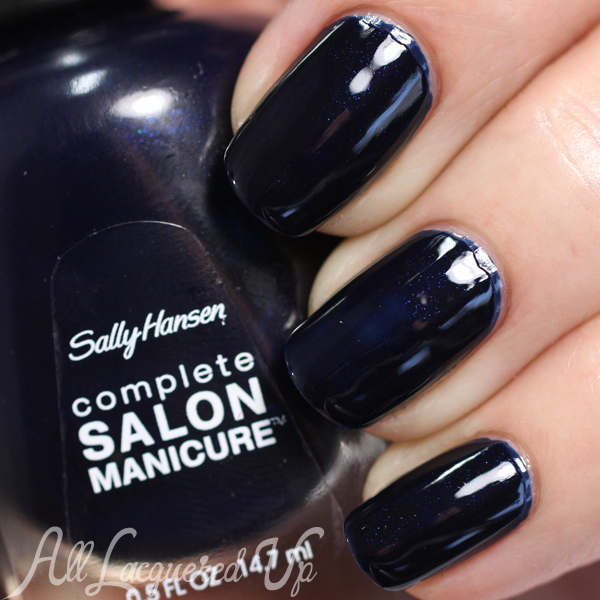 Sally Hansen Dark Denim swatch - Spring 2015 Rodarte via @alllacqueredup