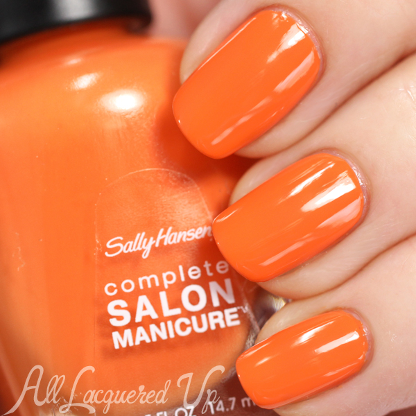 Sally Hansen Desert Poppy swatch via @alllacqueredup