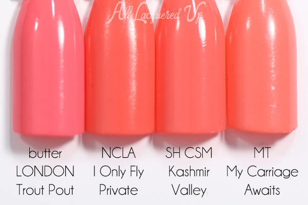 Sally Hansen Kashmir Valley swatch comparison - Spring 2015 Prabal Gurung via @alllacqueredup