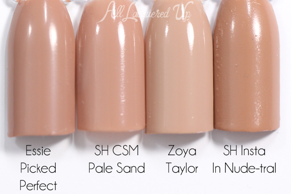Sally Hansen Pale Sand swatch comparison - Spring 2015 Roadarte via @alllacqueredup