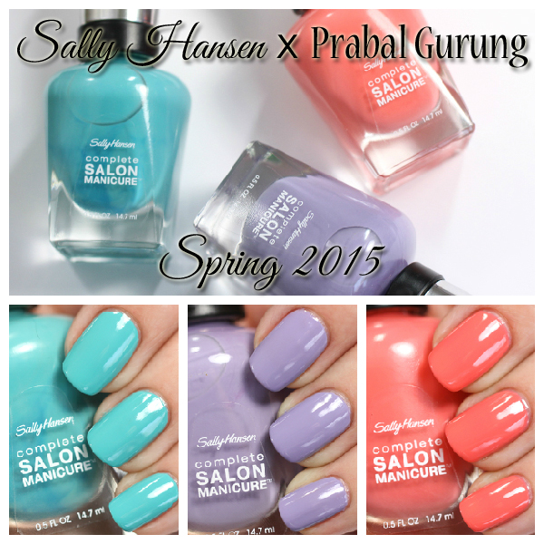 Sally Hansen Spring 2015 - Prabal Gurung swatches via @alllacqueredup