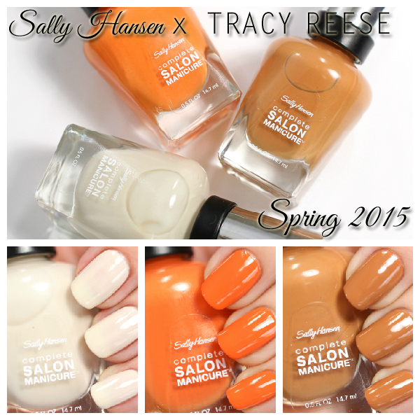 Sally Hansen Spring 2015 Tracy Reese swatches via @alllacqueredup
