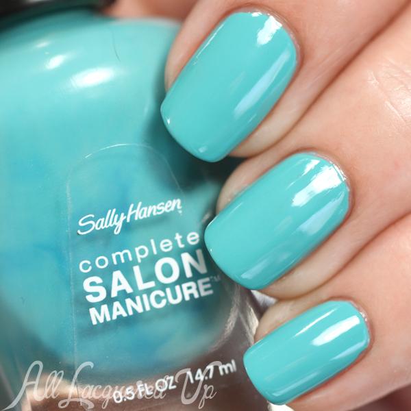Sally Hansen Teesta Turquoise swatch - Spring 2015 Prabal Gurung via @alllacqueredup