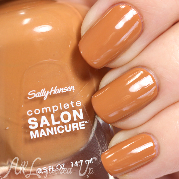 Sally Hansen Tupelo Honey swatch - Spring 2015 via @alllacqueredup
