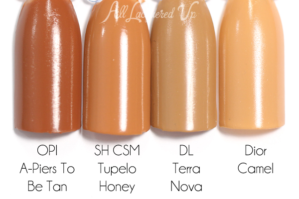 Sally Hansen Tupelo Honey comparison via @alllacqueredup
