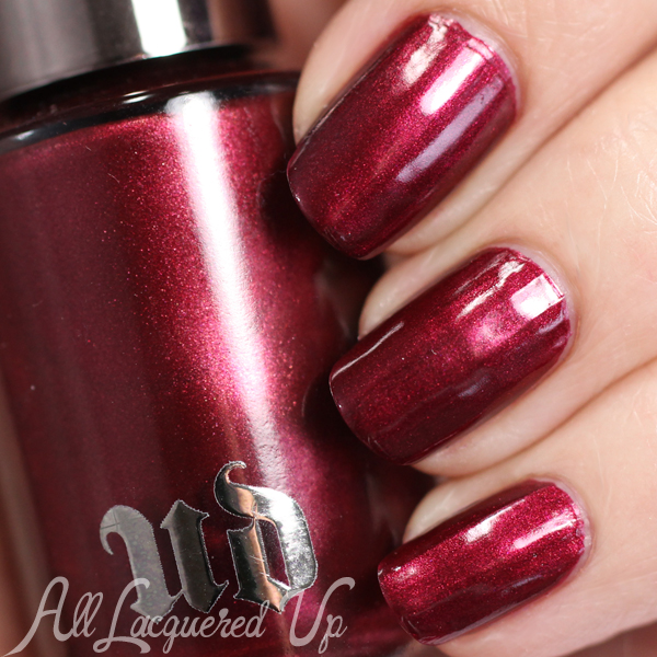 Urban Decay Gash nail polish swatch via @alllacqueredup