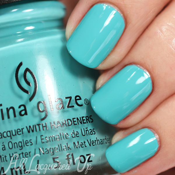 China Glaze Rain Dance the Night Away swatch - Desert Escape via @alllacqueredup