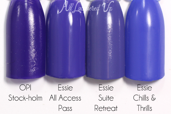 Essie All Access Pass swatch comparison - Neon 2015 via @alllacqueredup