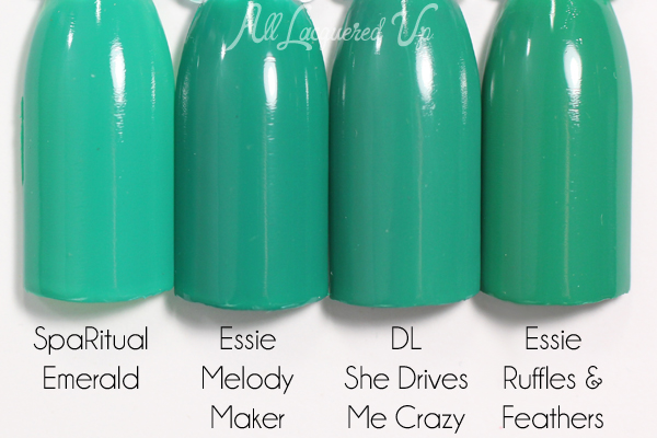 Essie Melody Maker comparison swatch - Neon 2015 via @alllacqueredup