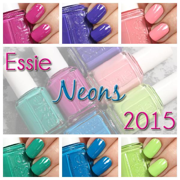 Essie Neon 2015 swatches via @alllacqueredup