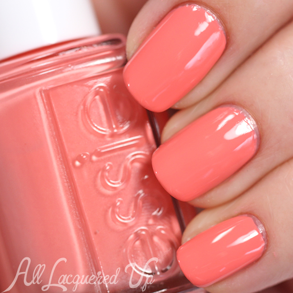 Essie Peach Side Babe swatch - Summer 2015 via @alllacqueredup