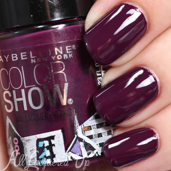 Maybelline Beyond Burgundy Color Show swatch via @alllacqueredup #Maybelline100