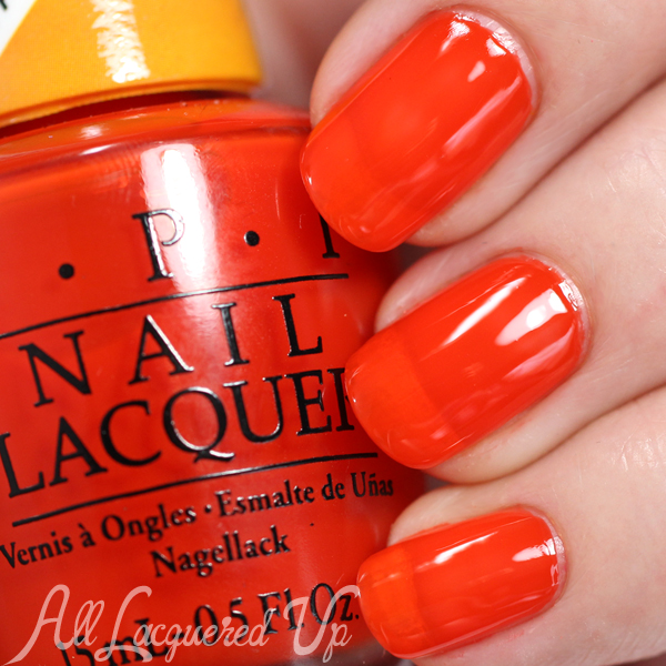 OPI Chromatic Orange swatch - Color Paints via @alllacqueredup