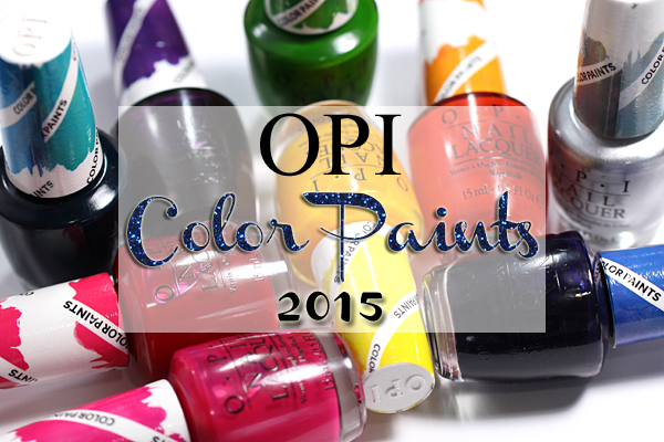 OPI Color Paints swatches and review via @alllacqueredup