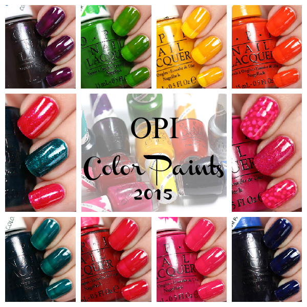 OPI Color Paints swatches via @alllacqueredup