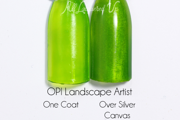 OPI Landscape Artist swatch - Color Paints via @alllacqueredup