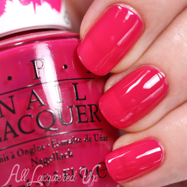 OPI Pen & Pink swatch - Color Paints via @alllacqueredup