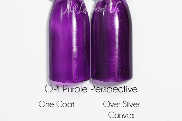 OPI Purple Perspective swatch - Color Paints via @alllacqueredup