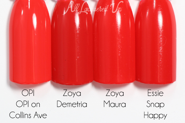 Zoya Demetria comparison swatch - Summer 2015 Island Fun via @alllacqueredup