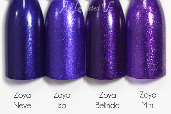 Zoya Isa comparison swatch - Summer 2015 Paradise Sun via @alllacqueredup