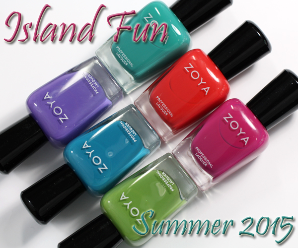 Zoya Island Fun - Summer 2015 review via @alllacqueredup