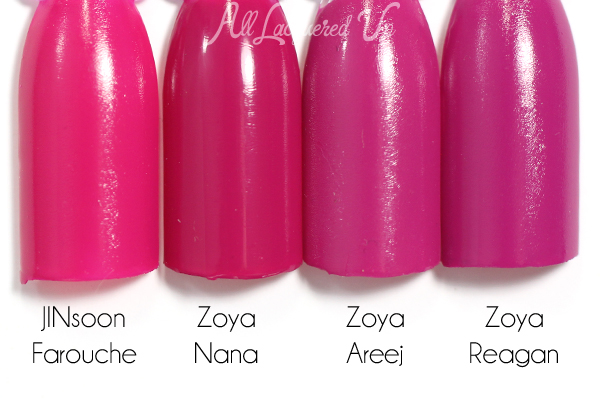 Zoya Nana comparison swatch - Summer 2015 Island Fun via @alllacqueredup
