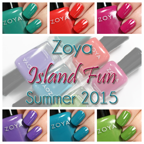 Zoya Summer 2015 - Island Fun swatches via @alllacqueredup