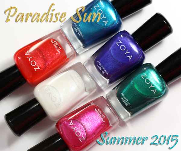 Zoya Summer 2015 - Paradise Sun review via @alllacqueredup