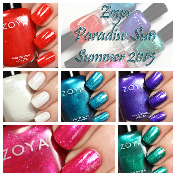 Zoya Summer 2015 - Paradise Sun swatches via @alllacqueredup