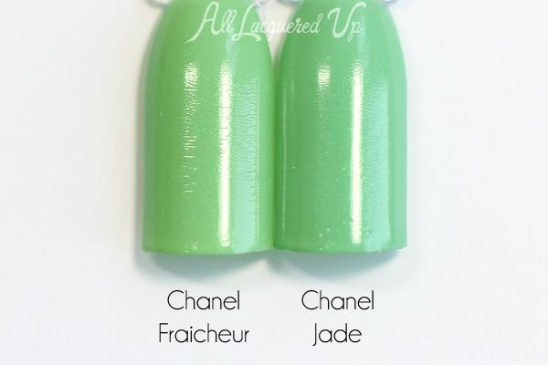 Chanel Fraicheur Jade dupe comparison via @alllacqueredup