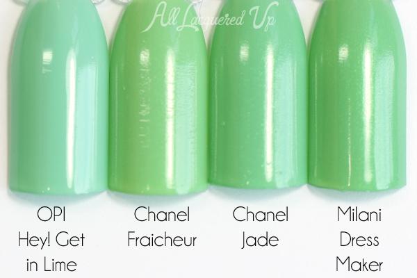 Chanel Fraicheur Jade dupe via @alllacqueredup