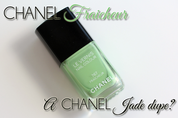 Chanel Fraicheur and Jade nail polish comparisons via @alllacqueredup