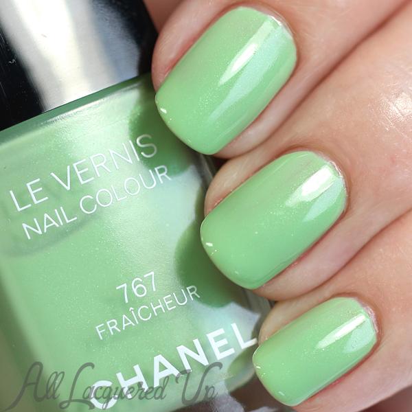 Chanel Fraicheur swatch nail via @alllacqueredup