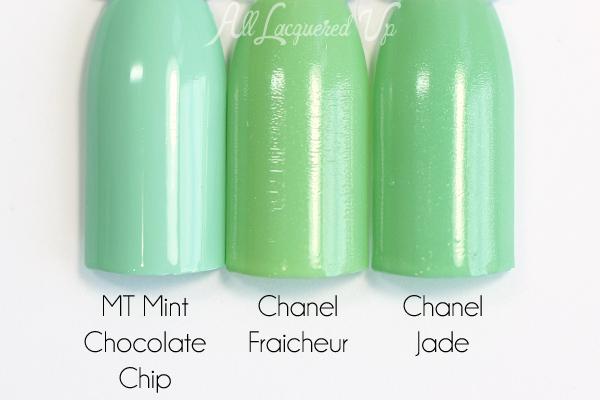 Chanel Jade comparison via @alllacqueredup