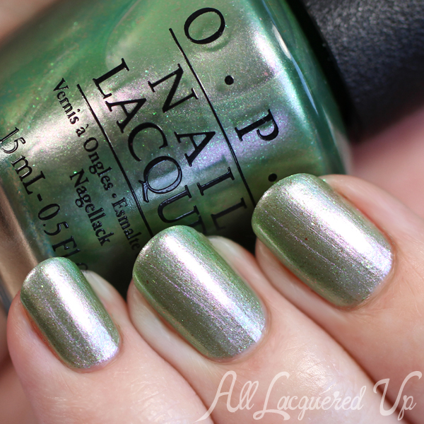 OPI Visions of Georgia Green - Coca Cola 2015 via @alllacqueredup