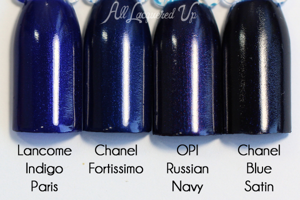 Chanel Fortissimo comparison swatch
