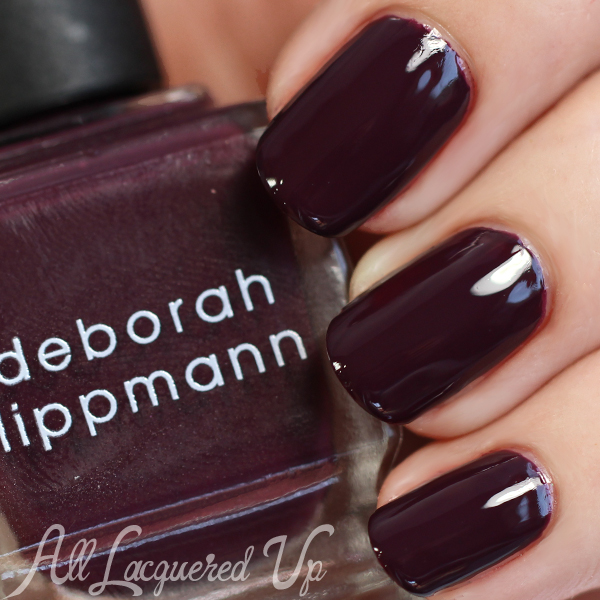 Deborah Lippmann Miss Independent swatch via @alllacqueredup
