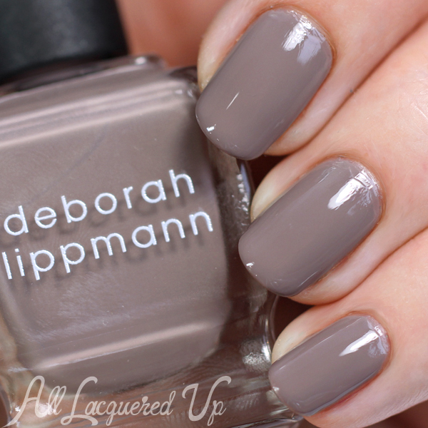 Deborah Lippmann She Wolf swatch comparison via @alllacqueredup