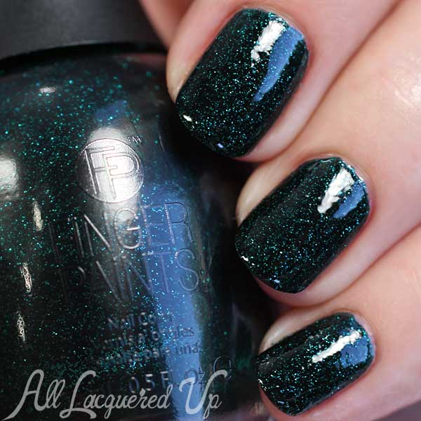 FingerPaints Exotic Emerald swatch via @alllacqueredup