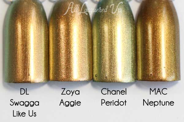 Zoya Aggie comparison swatch - Flair Fall 2015